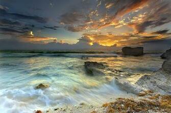 La Jolla Sandstone and Sky The sun rises over La Jolla