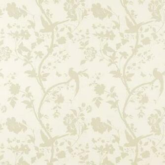 Wallpaper Oriental Garden GoldOff White Floral Wallpaper