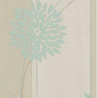 Tea Garden Wallpaper In Duck Egg And Cream By AS Creation