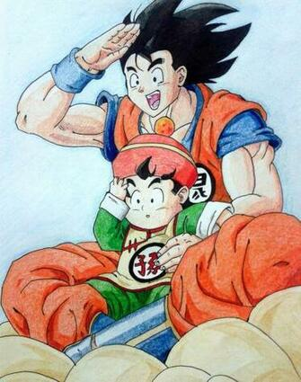 Goku and gohan D by RanCh000