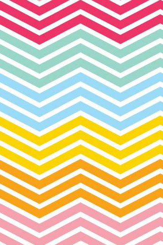 14 Rainbow Chevron iPhone Wallpaper