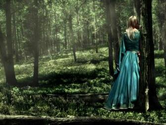 Girl in the forest wallpaper Wallpaper Wide HD