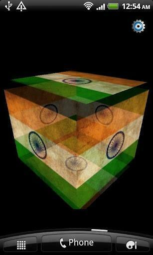 View bigger   India Flag 3D Live Wallpaper for Android screenshot