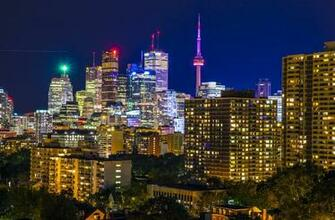 skylines 2012 2015 jasonwilde toronto skyline from a rooftop terrace