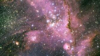 Download Wallpaper 2560x1440 Stars Pink Light Galaxy Mac iMac 27 HD