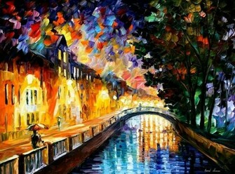 Leonid Afremov   Evening rain wallpaper   ForWallpapercom
