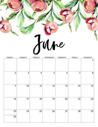 Cute June 2020 Calendar Printable for Kids June 2019 Calendar