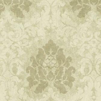Tan White HAV40724 Haven Damask Wallpaper   Traditional Wallpaper