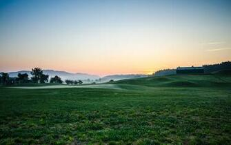 High resolution desktop wallpaper Sunrise at Golf Course by skopusnik