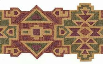 Southwestern aztec design wallpaper border mrl2412