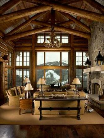 log cabin interior Brewster Wallcovering Blog