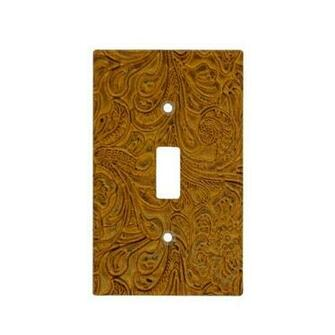 Tooled Tan Leather Look Faux Western Light Switch Covers Zazzle