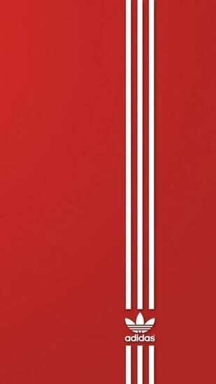 Download Wallpaper 750x1334 Brand Adidas Red White