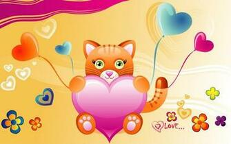 Valentine cat wallpaper   ForWallpapercom
