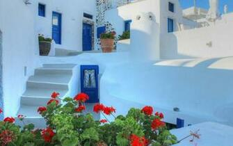 Santorini Greece Wallpaper Greece santorini house stairs