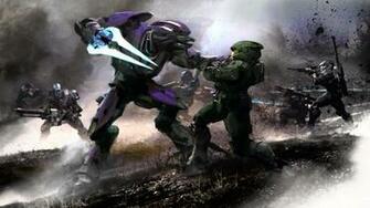 Halo Reach Elites Vs Spartans HD Wallpaper Background Images