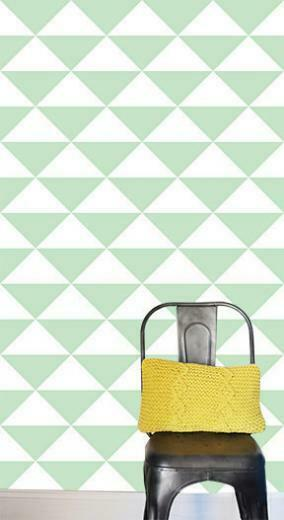 Large Triangles Removable Wallpaper Tile modern wallpaper