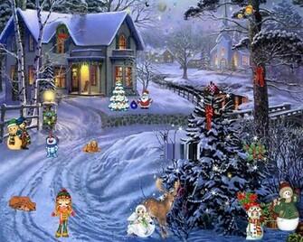 Christmas Scenes Desktop Wallpaper newhairstylesformen2014com