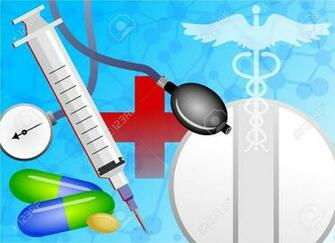 Abstract Medical Background Design With Health Related Objects