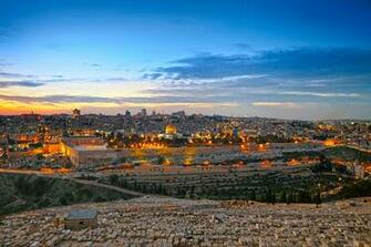 Wallpapers Israel Jerusalem HDRI Sky night time Cities Building