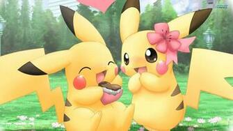 Pikachu Pokemon Cute Couples HD Wallpaper of Cartoon   hdwallpaper2013