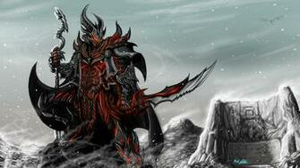Skyrim Game Art Rider Armor Staff Sword Wallpaper Background 4K