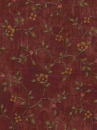 Calico Burgundy Wallpaper   Rustic Country Primitive