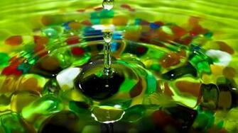 Wallpaper water drop color stones glass hd picture image