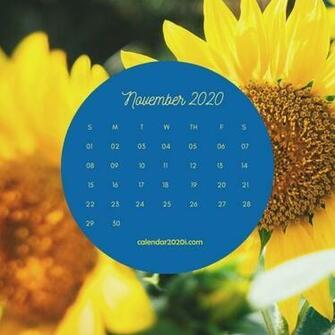 November 2020 Floral Calendar Printable 2020 Calendars Floral