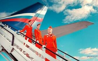 airliners aeroflot commercial flight attendants Wallpaper
