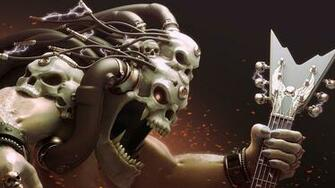 electricity monster music heavy metal skulls wallpaper background