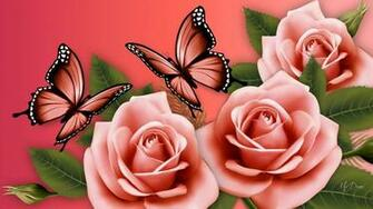 Flowers And Butterflies Wallpaper   36 Group Wallpapers