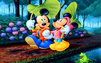 Mickey And Minnie Disney Desktop Wallpaper