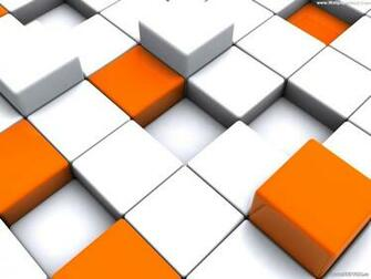 Best white and orange blocks desktop wallpapers background collection
