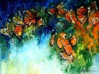 Monarch Butterfly Abstract wallpaper   ForWallpapercom