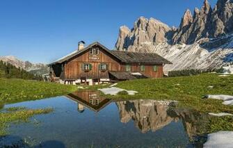 Wallpaper mountains Italy house Italy Trentino Alto Adige