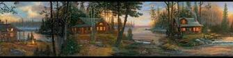 lodge wallpaper border made in the USA Cabin Fever Wall Paper Border