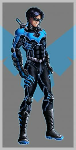 Nightwing Redesign by ForgeInFlames