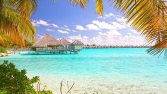 Tropical Beach Bora Bora Polynesia Desktop Wallpaper