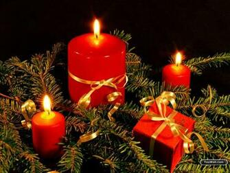 Christmas Candles Wallpaper   wallpaperwallpapersfree wallpaper
