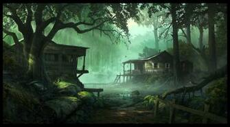 forest cabins Wallpaper Background 26470