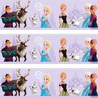 Disney Frozen Elsa Anna Olaf Childrens Movie Wallpaper Border Fr3503 3