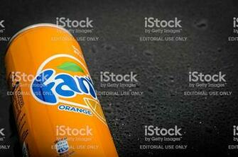 Orange Fanta Can Stock Photo   Download Image Now   iStock