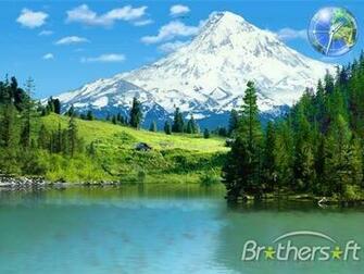 3D Mountain Lakes Screensaver 3D Mountain Lakes Screensaver