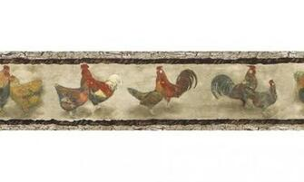 Home Animal Borders Roosters Wallpaper Border B76455