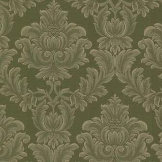 2601 20802 Green Damask   Oldham   Brocade Wallpaper By Mirage