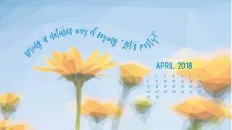 Geometric Daffodils April Digital Wallpapers