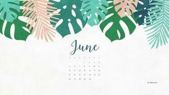 June 2016 calendar wallpaper desktop background