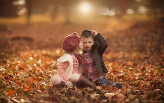 Cute Baby Girl and Boy Kissing HD Wallpapers HD Wallpapers
