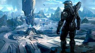 Halo Master Chief digital art concept art science fiction artwork